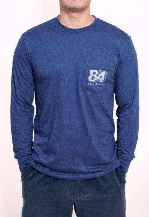 30th Anniversary Reagan Bush '84 Long Sleeve Pocket Tee in Navy by Rowdy Gentleman