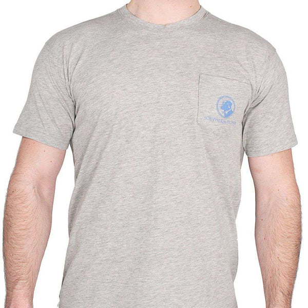 Men's Tee Shirts - A Lot Goes Down Tee In Grey By Southern Proper