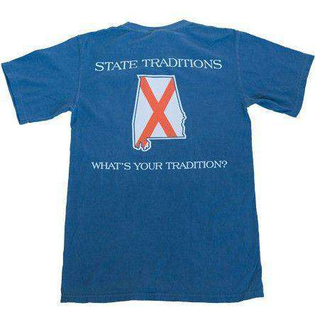Men's Tee Shirts - AL Auburn Traditional T-Shirt In Navy By State Traditions