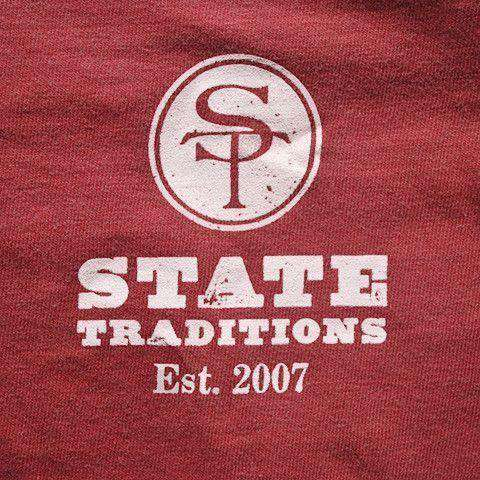 AL Traditional Long Sleeve T-Shirt in Crimson by State Traditions