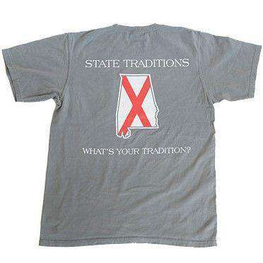 Men's Tee Shirts - AL Traditional T-Shirt In Grey By State Traditions