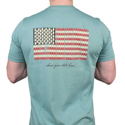 Men's Tee Shirts - Alabama SPC State Lines Tee In Ocean Green By Southern Point Co. - FINAL SALE