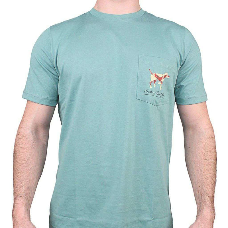 Alabama SPC State Lines Tee in Ocean Green by Southern Point Co. - FINAL SALE