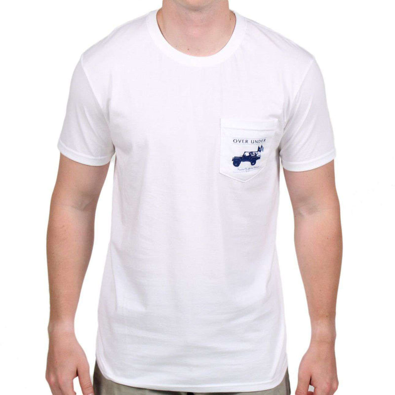 Men's Tee Shirts - American Craftsmanship Tee In White By Over Under Clothing