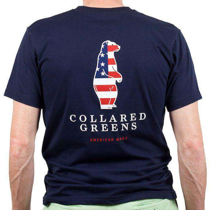 American Made Boss Tee in Navy by Collared Greens