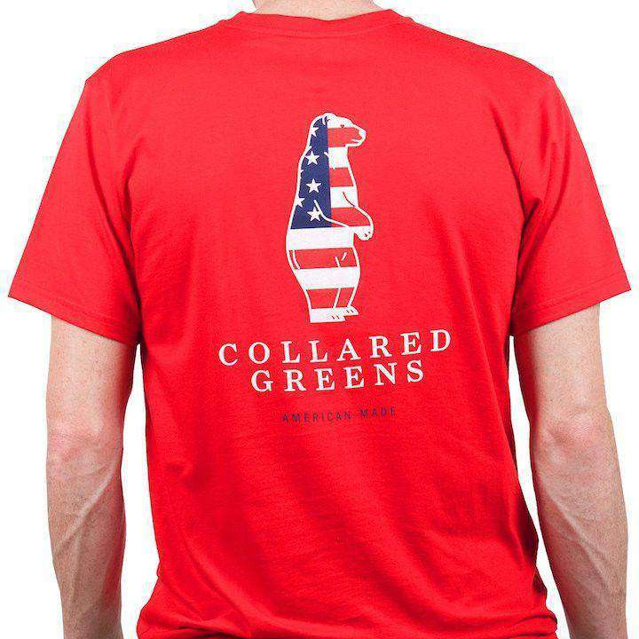 American Made Boss Tee in Red by Collared Greens