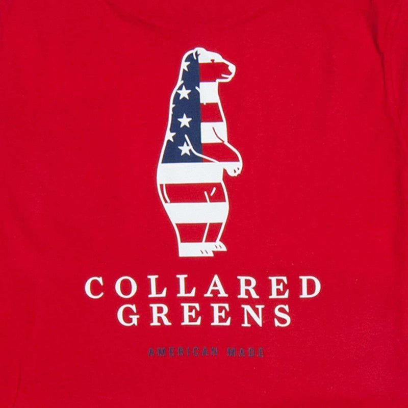 Men's Tee Shirts - American Made Boss Tee In Red By Collared Greens