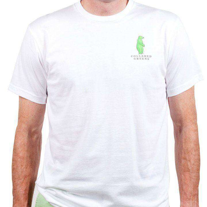 Men's Tee Shirts - American Made Boss Tee In White By Collared Greens