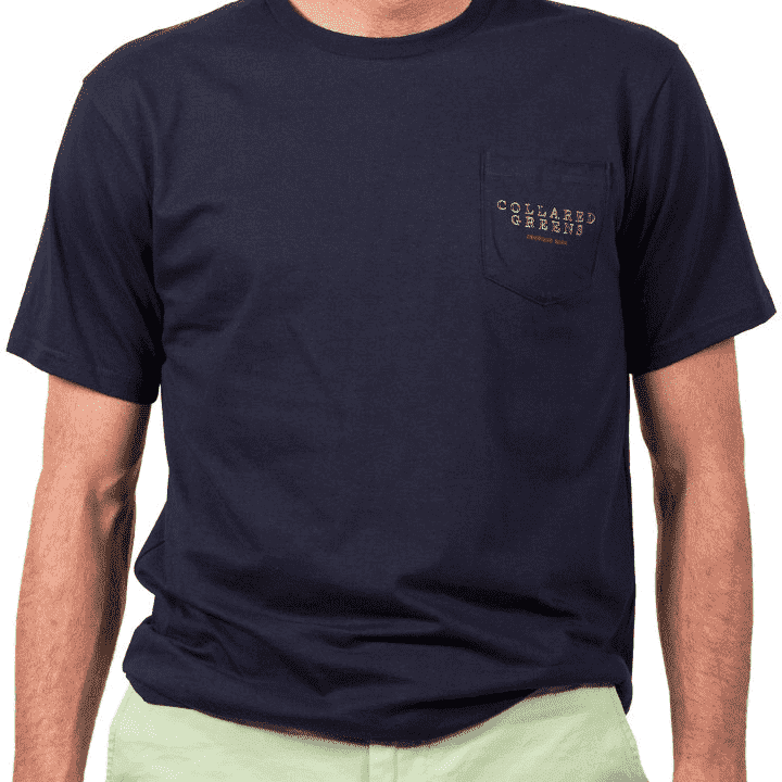 Men's Tee Shirts - American Made Classic Golf Tee In Navy By Collared Greens
