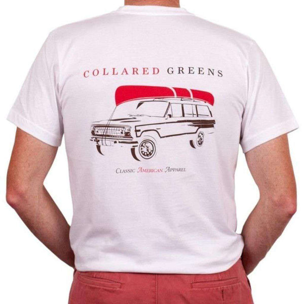 Men's Tee Shirts - American Made Drake Tee In White By Collared Greens