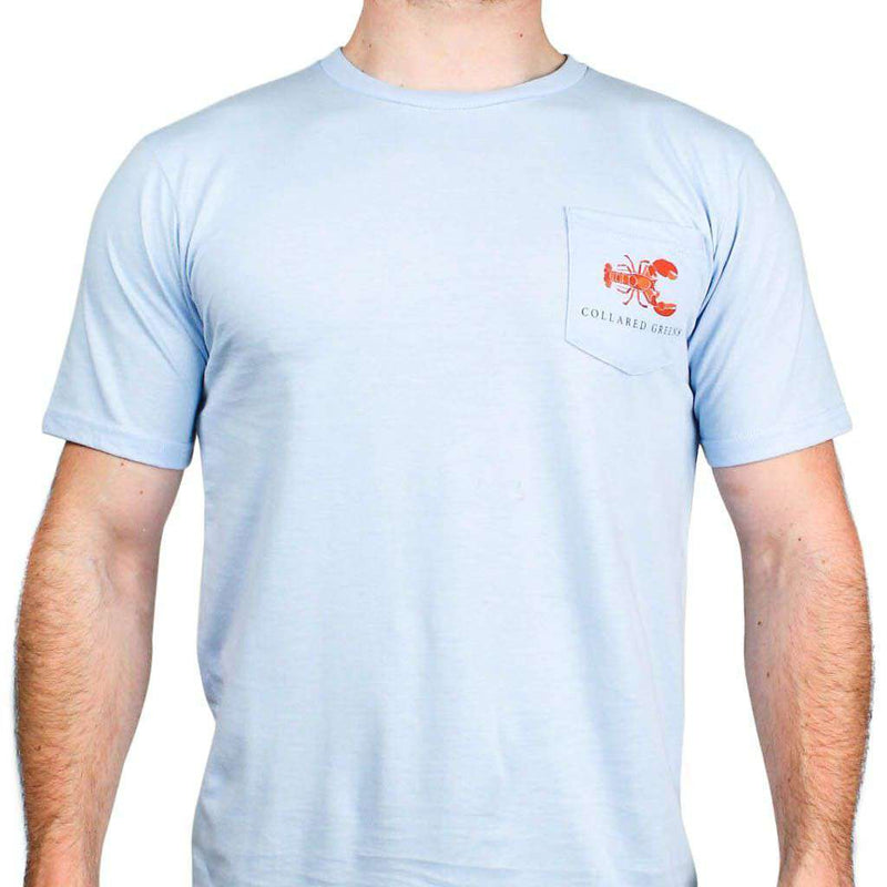 American Made Lobster Tee in Carolina Blue by Collared Greens