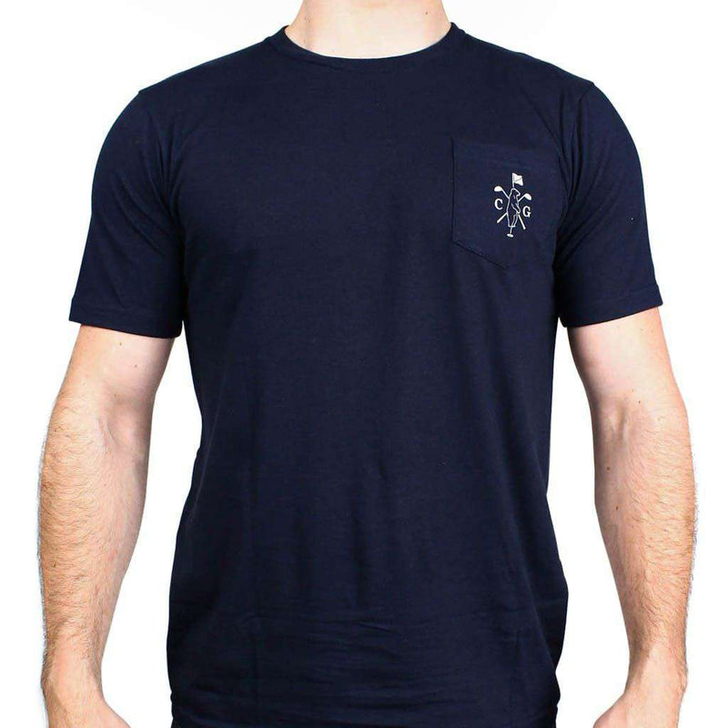 American Made Mountain Golf Tee in Navy by Collared Greens