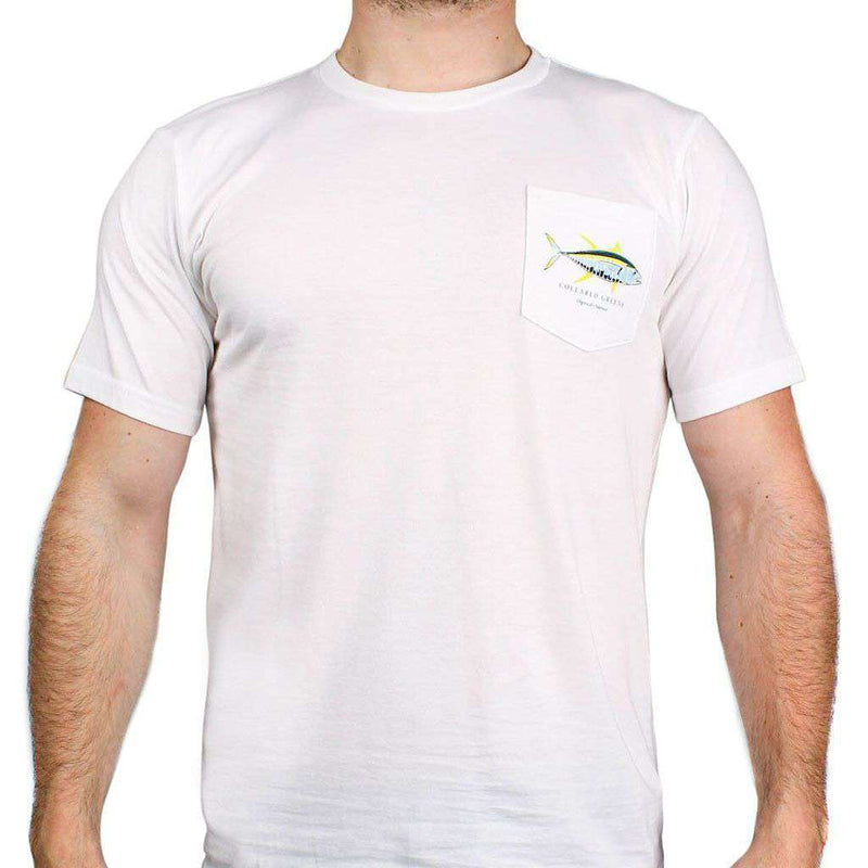 American Made Yellow Fin Tee in White by Collared Greens