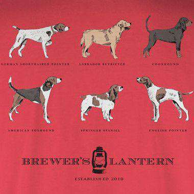 Arthur's 6 Pack Long Sleeve Tee in Washed Red by Brewer's Lantern