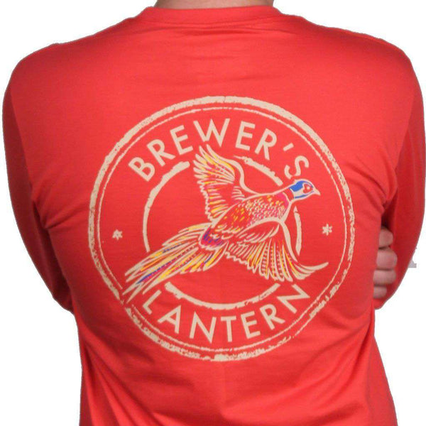 Arthur's Pheasant Long Sleeve Pocket Tee in Washed Red by Brewer's Lantern