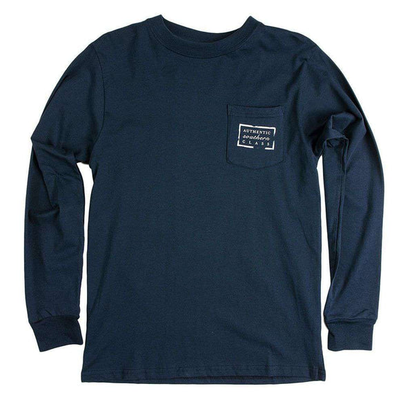 Authentic Alabama Heritage Long Sleeve Tee in Navy by Southern Marsh
