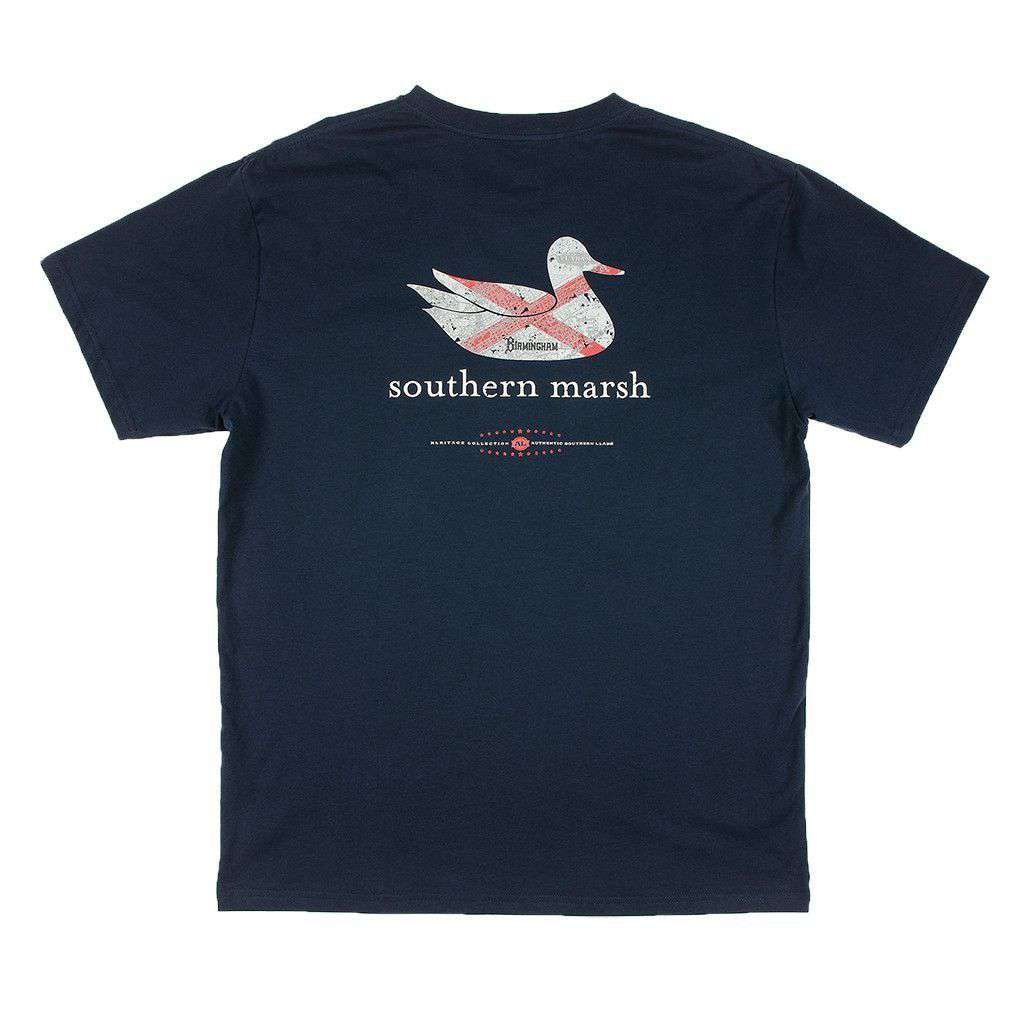 Southern marsh authentic alabama heritage tee in navy for Southern marsh dress shirts on sale