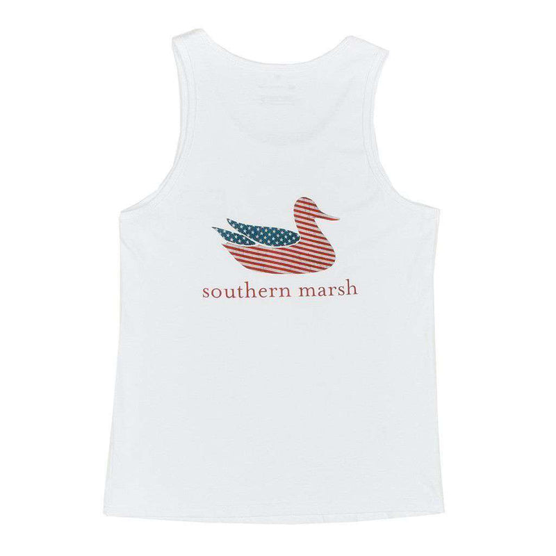 Southern marsh authentic flag tank in white country club for Southern marsh dress shirts on sale