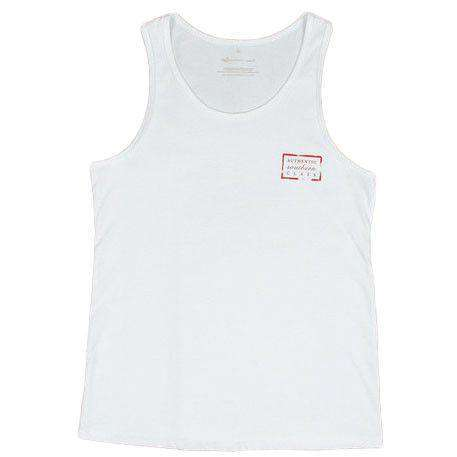 Men's Tee Shirts - Authentic Flag Tank In White By Southern Marsh
