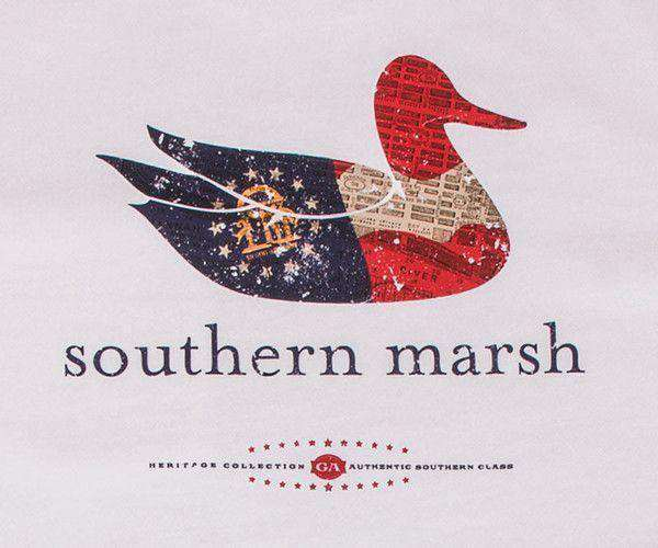 Authentic Georgia Heritage Tee in White by Southern Marsh