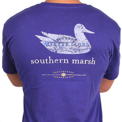 Men's Tee Shirts - Authentic Kentucky Heritage Tee In Indigo By Southern Marsh