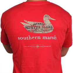 Men's Tee Shirts - Authentic Kentucky Heritage Tee In Red By Southern Marsh