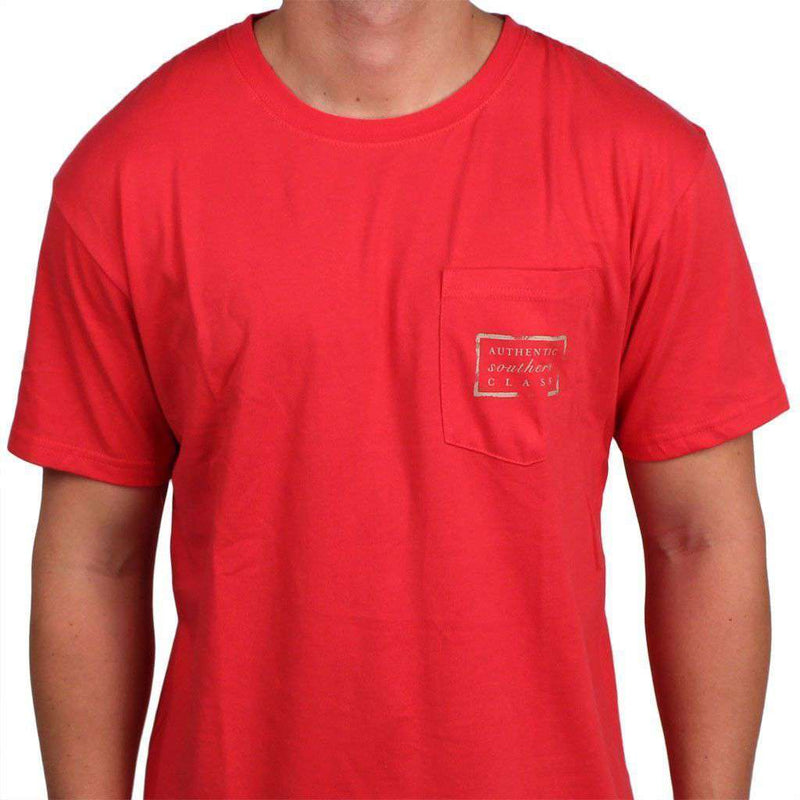 Authentic Kentucky Heritage Tee in Red by Southern Marsh