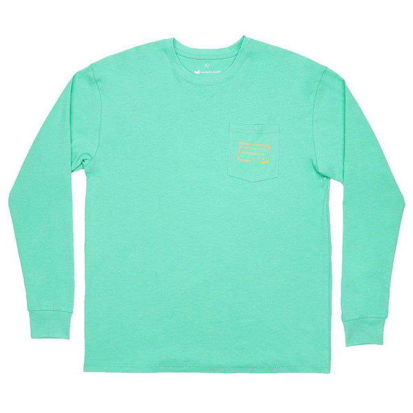 Men's Tee Shirts - Authentic Long Sleeve Tee In Bimini Green By Southern Marsh - FINAL SALE