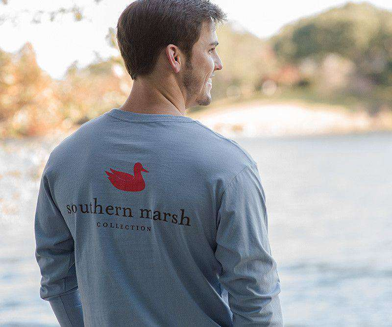 Southern Marsh Authentic Long Sleeve Tee In Light Blue