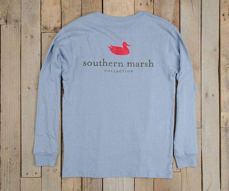 Authentic Long Sleeve Tee in Light Blue by Southern Marsh