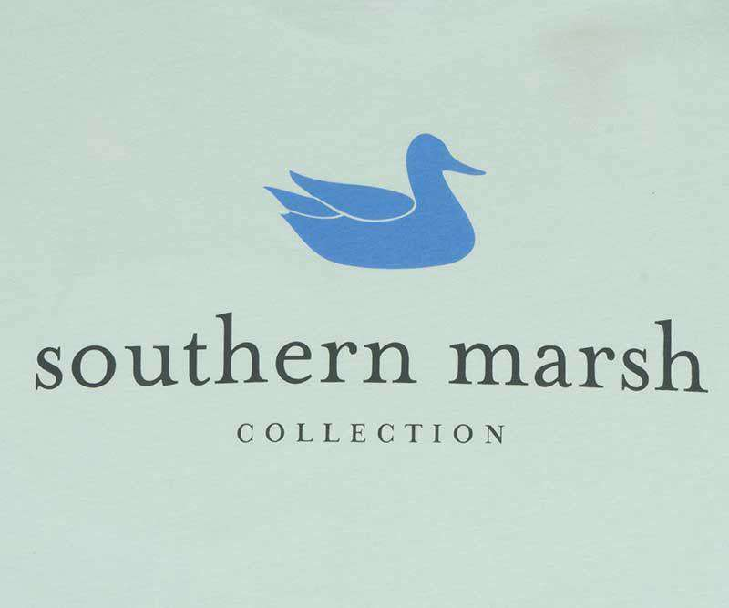 Men's Tee Shirts - Authentic Long Sleeve Tee In Ocean Green By Southern Marsh