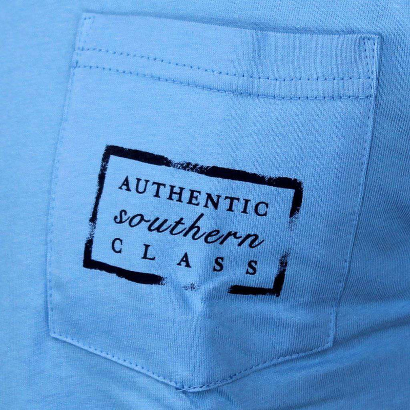 Authentic North Carolina Heritage Tee in Breaker Blue by Southern Marsh