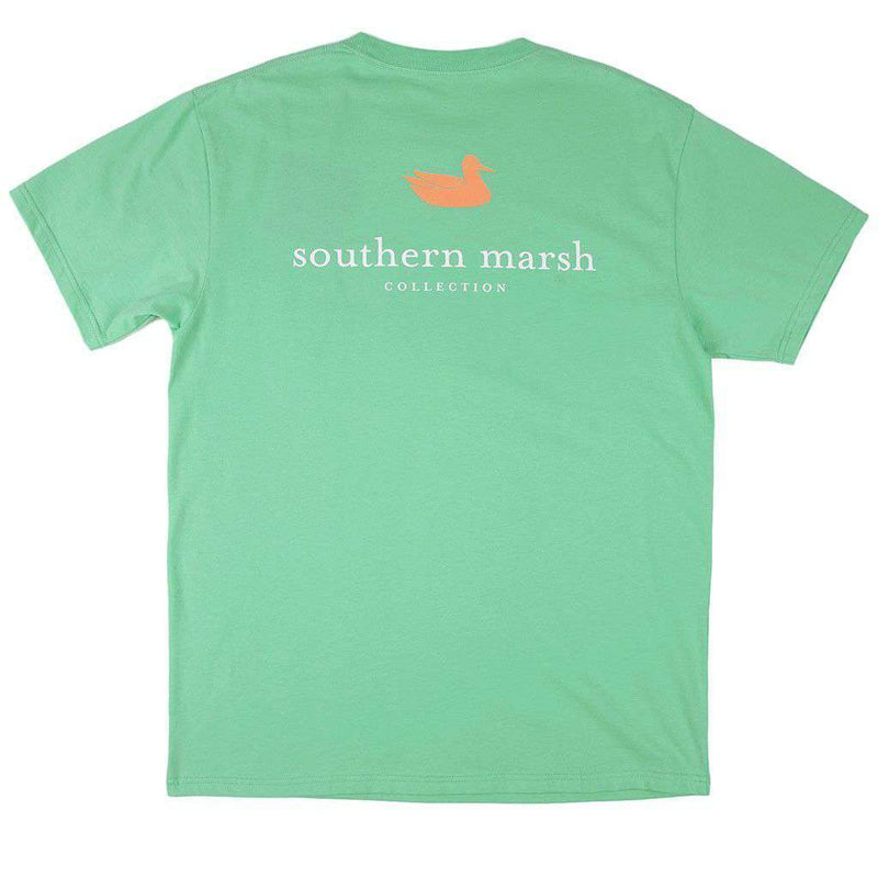 Men's Tee Shirts - Authentic Tee In Bimini Green By Southern Marsh