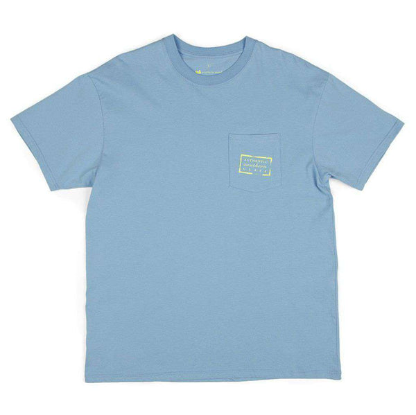 Authentic Tee in Breaker Blue by Southern Marsh - FINAL SALE
