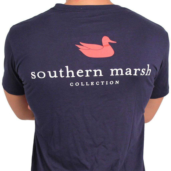 Men's Tee Shirts - Authentic Tee In Navy By Southern Marsh