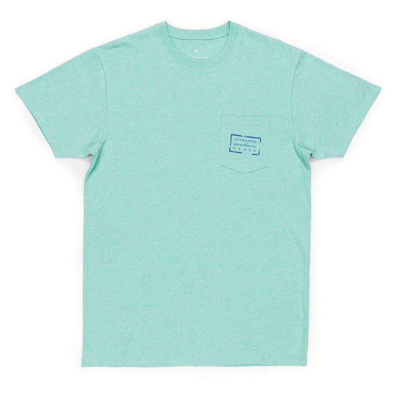 Authentic Tee in Washed Bimini Green by Southern Marsh