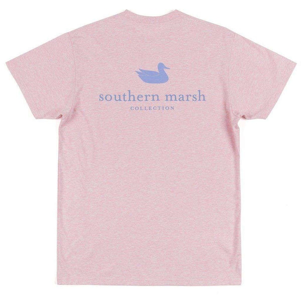 Men's Tee Shirts - Authentic Tee In Washed Camelia By Southern Marsh