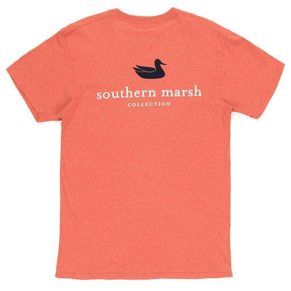 Men's Tee Shirts - Authentic Tee In Washed Red By Southern Marsh