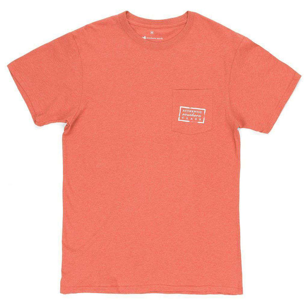 Authentic Tee in Washed Red by Southern Marsh