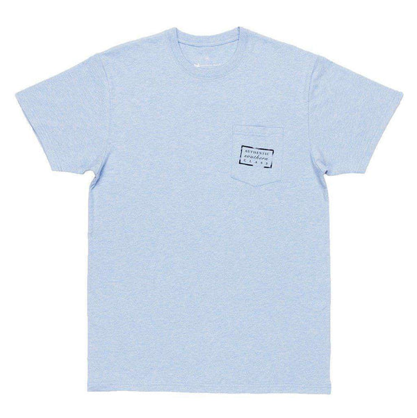 Authentic Tee in Washed Sky Blue by Southern Marsh