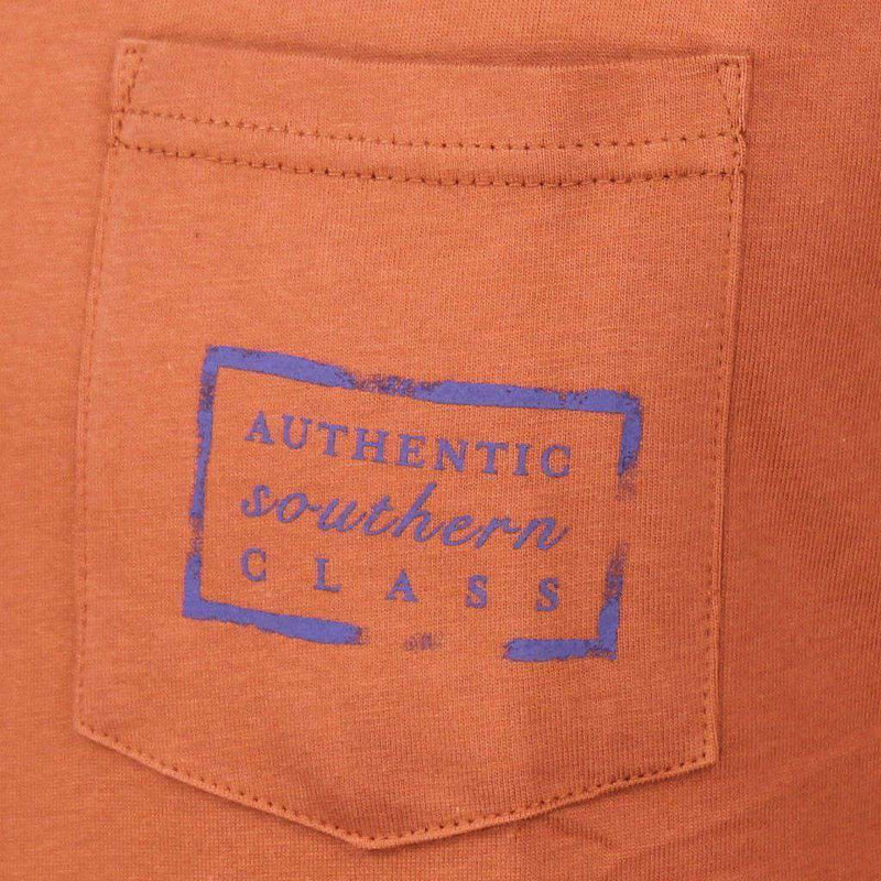 Men's Tee Shirts - Authentic Texas Heritage Tee In Burnt Orange By Southern Marsh