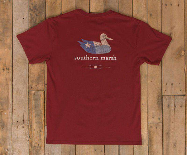 Authentic Texas Heritage Tee in Maroon by Southern Marsh