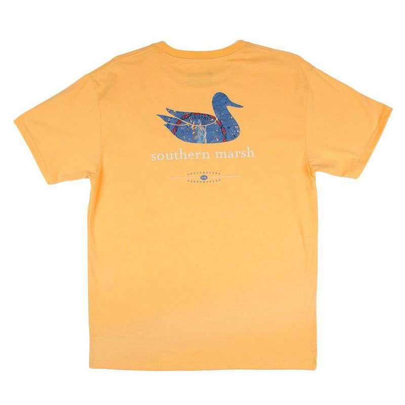 Men's Tee Shirts - Authentic Virginia Heritage Tee In Squash By Southern Marsh