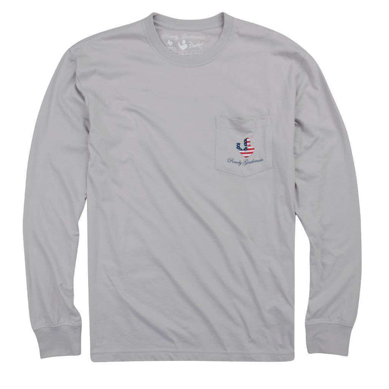 Back to Back Crest Long Sleeve Pocket Tee in Apollo by Rowdy Gentleman