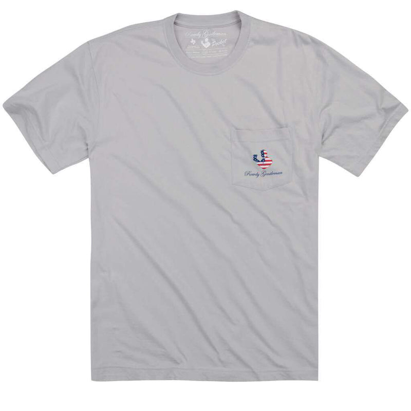 Back to Back Crest Short Sleeve Pocket Tee in Apollo by Rowdy Gentleman