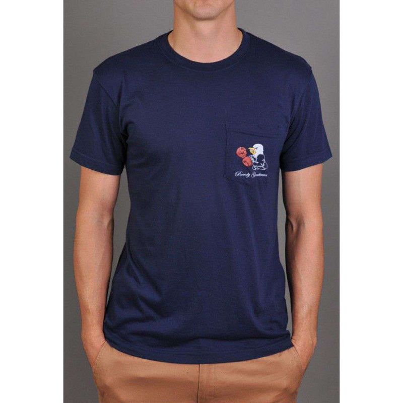 Back to Back World War Champs -Eagle Edition- Tee in Navy by Rowdy Gentleman