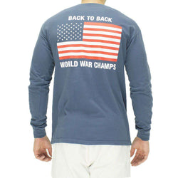 9bd7b98c7 Men's Tee Shirts - Back To Back World War Champs Long Sleeve Pocket Tee In  Navy