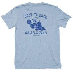 Men's Tee Shirts - Back To Back World War Champs Pocket Tee -Eagle Edition- In Citadel Blue By Rowdy Gentleman