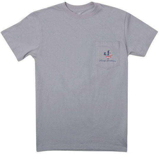 Back to Back World War Champs Short Sleeve Pocket Tee in Fog by Rowdy Gentleman
