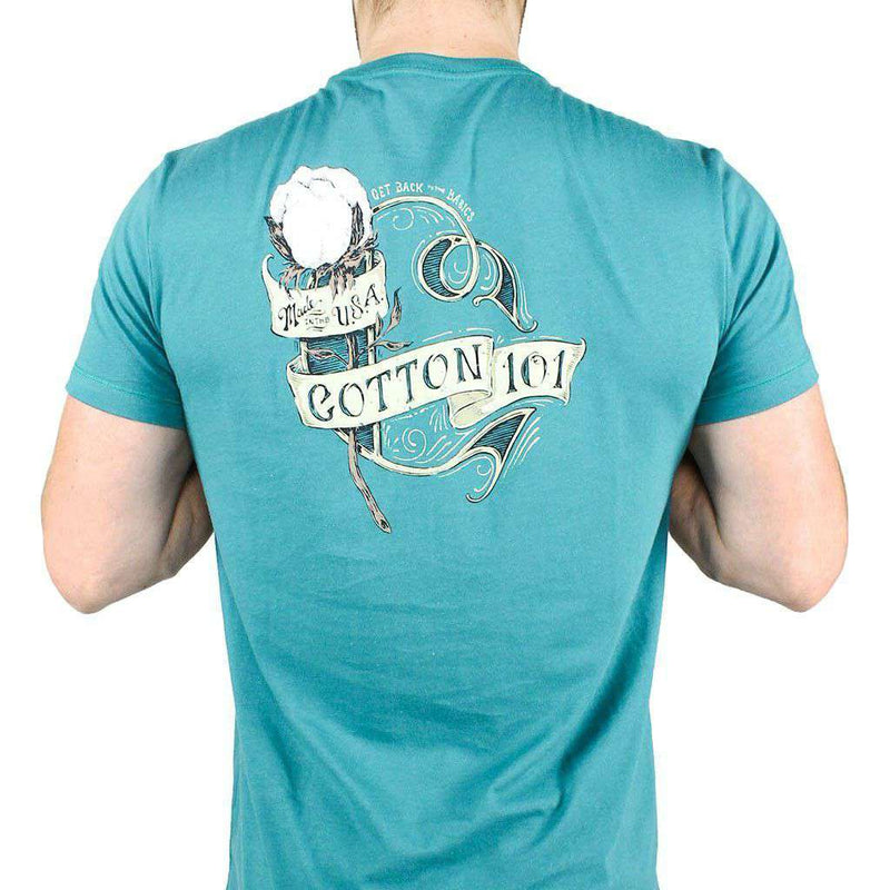 Men's Tee Shirts - Back To Basics Pocket Tee In Hunter Green By Cotton 101 - FINAL SALE